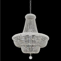 Allegri 20972 Napoli 21 Light 34 Wide Empire Chandelier with Crystal Accents - Silver