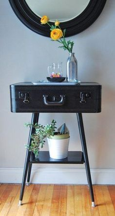 DIY Vintage Suitcase Projects The Budget Decorator Diy Furniture Ideas Budget Decorator DIY Projects Suitcase Vintage Furniture Projects, Furniture Makeover, Home Projects, Diy Furniture, Furniture Plans, Antique Furniture, Bedroom Furniture, Modern Furniture, Weekend Projects