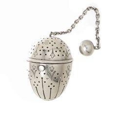 TIFFANY & COMPANY STERLING TEA BALL STRAINER INFUSER CIRCA 1900 #TiffanyCo