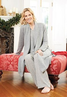 Relax in the cozy warmth of our exclusive Cashmere Robe.
