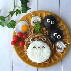 日本人のごはん/お弁当 Japanese meals/Lunch トトロそば bento #ghibli #food #breakfast