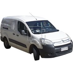 A photo of a van in a front perspective view, tightly cropped for Photoshop rendering.