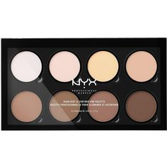 Nyx Professional Makeup Highlight &Amp; Contour Pro Palette (€20) ❤ liked on Polyvore featuring beauty products, makeup, face makeup, nyx makeup, nyx, nyx cosmetics, highlight face makeup and palette makeup
