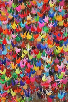Origami paper cranes by dona