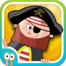Happi & The Pirates - Stavning, matte och hjärngympa för barn från Happi Papi Logic Games For Kids, Math Games, Learning Stations, Learning Apps, Pirate Day, Pirate Theme, Spelling For Kids, The Pirates, Pirate Island