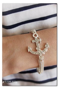 #DIY Nautical Chain Bracelet Tutorial from @Sugar Bee Crafts for our #craftmonthlove National Craft Month Blogger Campaign.