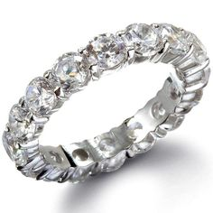 The Diva Sterling Silver CZ Wedding Band