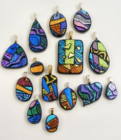 Sweet Freedom Designs: The Picasso Reveal - Dichroic glass pendants