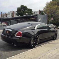 "Forgiato Wheels on Instagram: ""Black and Chrome #RollsRoyce #Wraith on #Forgiatos by @rdbla"""