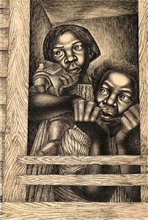 African American Artist: Charles W. White, Jr. ~ info of artist biography