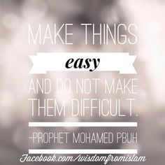 Make things easy