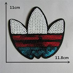 FairyTeller High Quality Mixture Sell Paillette Patch Hot Melt Adhesive Applique Embroidery Patch Diy Clothing Accessory Patch C487-C655 ** Visit the image link more details.