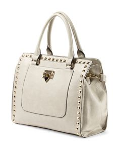 Structured Tote With Studs