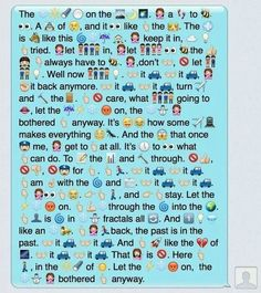 Let It Go told in emoticons
