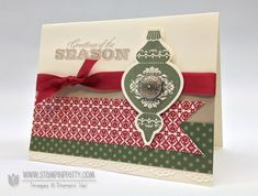Stampin up stampinup stamp it pretty holiday catalog card idea punch demonstrator blog