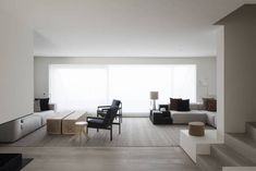 DRD Apartment is a minimal apartment located in Knokke, Belgium, designed by Vincent Van Duysen. Minimal Apartment, Architecture Design, Vincent Van Duysen, Living Area, Living Room, Top Interior Designers, Minimalist Decor, Minimalist Style, House Ideas