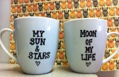 Game of Thrones  GOT Coffee Mug Set  Sun and Stars by PickMeCups, $35.00