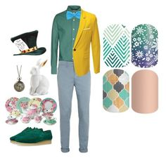 """""""Guess the Disney Character - Jamberry Nails"""" by kspantongroup on Polyvore featuring Band of Outsiders, Topman, Padmore & Barnes, Elope, Royal Albert, L'Objet and Disney"""