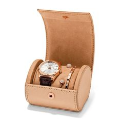 #Fossil Perfect Boyfriend Three-Hand Leather Watch and Bracelet Set
