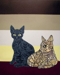 Cat Zentangle Art Print