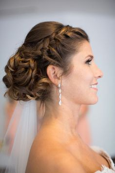 elegant updo wedding hairstyle; photo: Janae Shields Photography