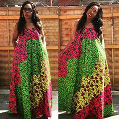 My Ankara Maxi Dress from T4turbanchic.com