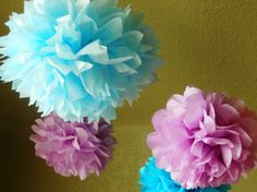 These inexpensive tissue paper poms flowers hang from anything and are great for weddings, parties, or everyday decor!