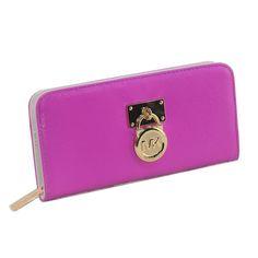 Michael Kors Hamilton Zip-Around Large Purple Wallets