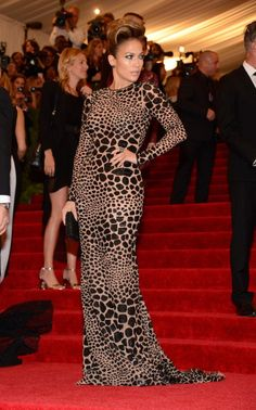 """""""PUNK: Chaos To Couture"""" Costume Institute Gala. There really is nothing Punk about Jennifer Lopez's Michael Kors dress, but she looks amazing in it!"""