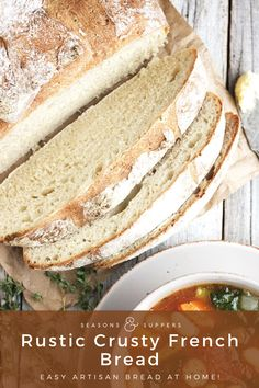 This rustic French bread is your winter soup's favourite sidekick! It also happens to be great toasted and makes a killer (crispy! Yeast Bread Recipes, Winter Soups, Rustic French, Bread N Butter, Artisan Bread, Hot Dog Buns, Crackers, Breads, Muffins