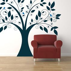 Cute Tree Giant Wall Decal