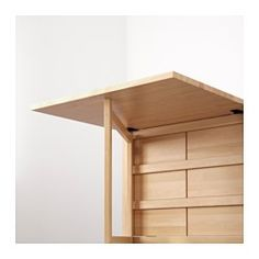 IKEA - NORDEN, Gateleg table, You can store flatware, napkins and candles in the 6 drawers under the table top.Table with drop-leaves seats 2-4; makes it possible to adjust the table size according to need.Solid wood is a durable natural material.