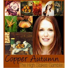 Zyla Copper Autumn by colorazione on Polyvore featuring JULIANNE, Cezanne, copper, autumn, copper autumn and zyla