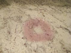 How to remove a pink stain from granite counter tops. super easy