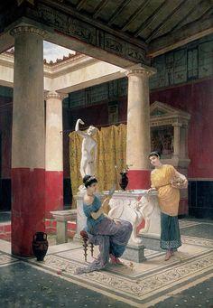 Maidens In A Classical Interior Luigi Bazzani (reconstruction)