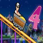 Thrill Rush 4:Andate sulla ultimo giro sulle montagne russe in Thrill Rush 4! blocchi giganti e le lacune appariranno dal nulla.