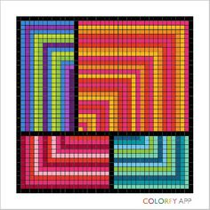 #colorfy #colorfyapp #patterns #quilt #relaxing #fun #mobileapp #googleplay #app #colorful