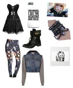 """""""New age succubus"""" by anngel24 ❤ liked on Polyvore featuring Rat Baby, Soda and Moschino"""