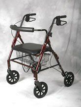 """MDS86800XW Medline 1 EA/EA,1 ZI/EA,1 CS/EA ROLLATOR, X-WIDE,HEAVY DUTY, 400 LBS. Medline MDS86800XW by Bariatric Rollator. $129.99. Medline MDS86800XW ROLLATOR, X-WIDE,HEAVY DUTY, 400 LBS. Physical Medicine/Rehabilitation Walkers ROLLATOR, X-WIDE,HEAVY DUTY, 400 LBS. Bariatric Rollator: This Heavy-Duty Rolling """"Walker"""" Supports Up To 400 Lbs. It Has A Padded Seat And Backrest, And Loop Brakes For Quick And Easy Stopping. It'S Easy To Maneuver And Folds For Storage..."""
