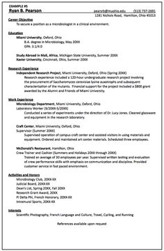 cv sample for fresh graduate httpexampleresumecvorgcv sample fresh graduate example resume cv pinterest - Microbiologist Resume Sample