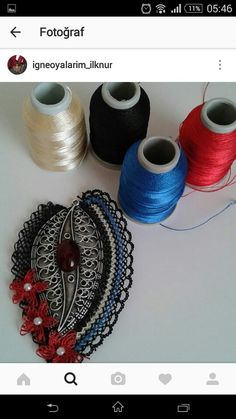 This Pin was discovered by İğn Needle Lace, Lace Making, Neck Warmer, Refashion, Needlepoint, Tatting, Needlework, Diy And Crafts, Crochet Earrings