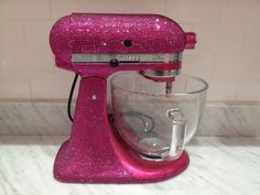 Bedazzled pink mixer. I think I am in love right now.