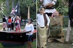 ultimate pirate party decor with a kid-size pirate ship