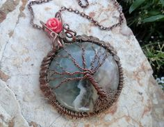 Rainbow Fluorite Fairy Tree of Life Pendant by CynthiaMartin, $24.00