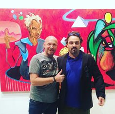 Sagamore Hotel Miami Beach Art Advisor Sebastien Laboureau with the talented Cedrik Cavallier in front of one of his most recent masterpieces currently exhibited at Futurama 1637 Galleries in Little Havana. Cavallier has an upcoming solo exhibit at Superfine!The Fair Dec.6-10 during Miami Art Week.