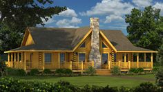 """""""The Bourbon"""" is one of the many log cabin home plans from Southland Log Homes. You can customize the Bourbon to meet your exact needs with our free design tools."""