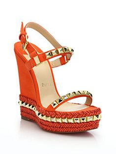 replica louboutin shoes - Christian Louboutin - Tres City Suede Sandals Worth a look ...