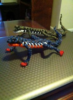 Paracord Lizard #550paracord #550cord #parachutecord #paracord #paracordial #cordage #cord #twine #rope #DIY #craft #crafting #project #survival #design