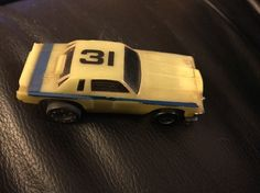 Vintage 1977 TCR HO Scale Slot Car #31 Dodge Magnum Glow In The Dark For Parts