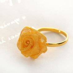 Rose Ring  Gold - One Size Costume Jewelry, Gold Rings, Rose Gold, Inspirational, Technology, Floral, Flowers, Tech, Tecnologia